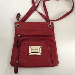 Nicole by Nicole Miller Red Crossbody Purse